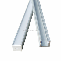 LED linear light extrusion aluminum profile diffuser pc cover for cabinet light