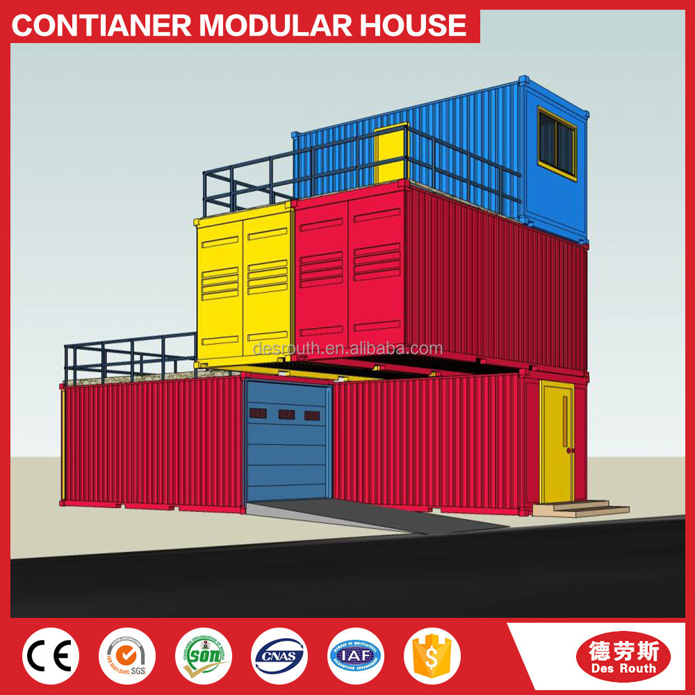 New luxury easily assembled prefabricated self contained container house