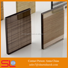 10mm tempered Copper Wire Mesh laminated glass prices