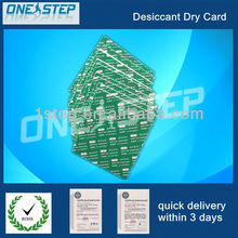 Absorption of moisture dry card in optical component