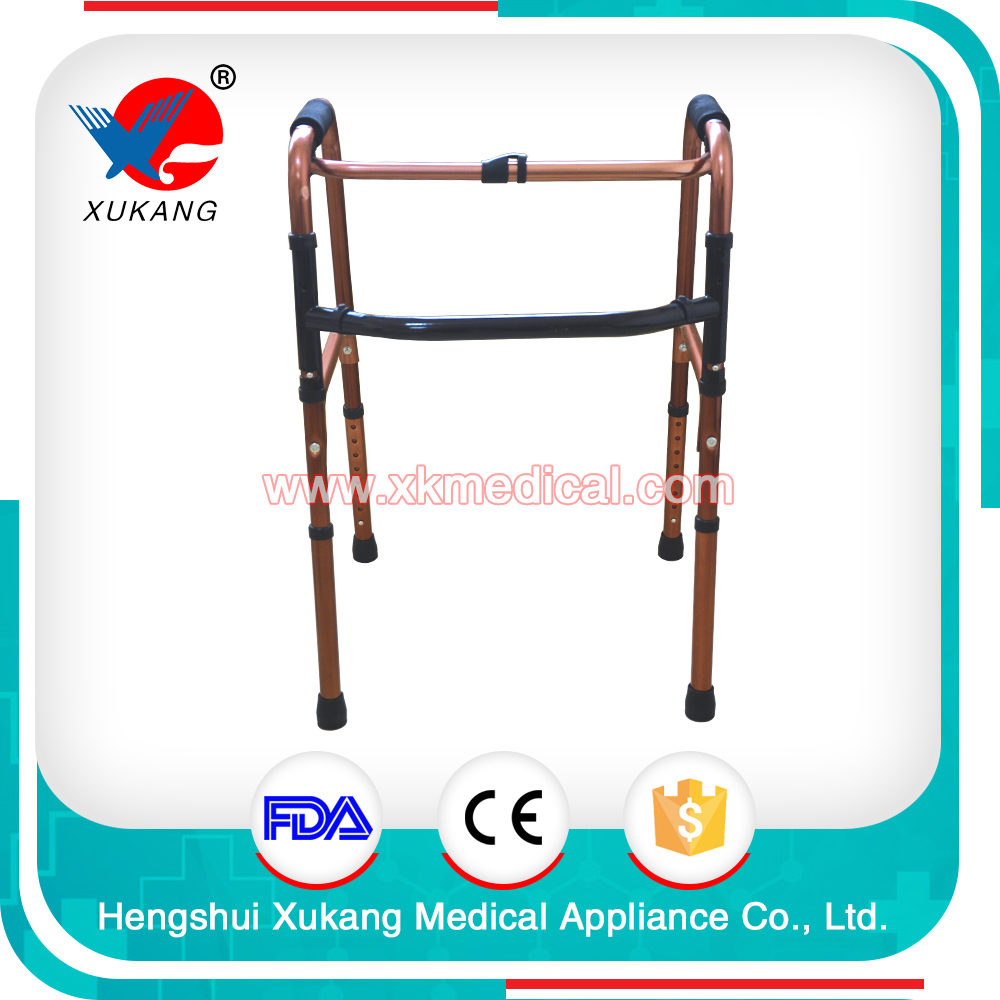 Medical Crutches Aluminium Alloy Adjustable 4-legs Walk Assist/Walking Aid/Mobility walker aid for elderly
