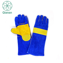 Excellent Leather Welding Sleeve Heat Resistant Protective Gloves