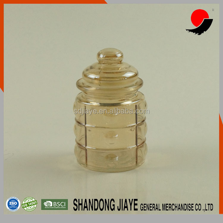 200ml Ion Plating Transparent Amber Square And Round Glass Jar