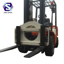 Forklift attachment 360 degree rotators