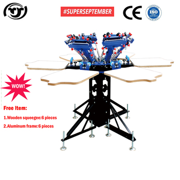 SUPERSEPTEMBER Manual 6 color 6 station t shirts screen printing machine
