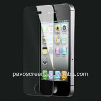 2013 hot ! Pavocreen Super clear Strong protection tempered glass self-adhesive electrostatic glass film for iphone 4.5