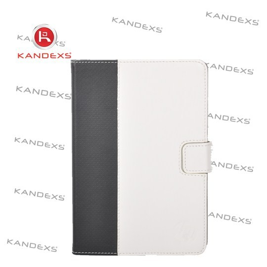 Luxury brand Black and white intervals new leather case for ipad mini