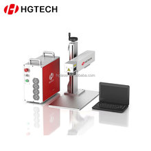 HGTECH 10W red low price high quality Easy maintenance fiber laser marking machine