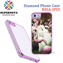Sublimation Bling Diamond Case for iPhone 5 5s, Custom Printable Mobile Phone Cover