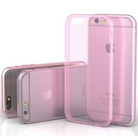 0.3 mm Ultra Thin Slim Crystal Clear Transparent Soft Silicone TPU Phone case for Iphone 6 4.7""