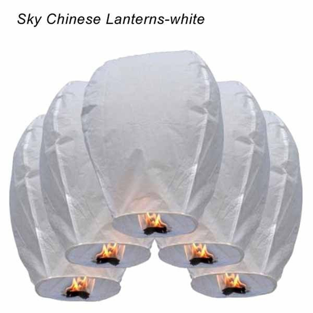 10PCS Mix Colors Chinese Paper Balloons Sky Flying Wishing Lantern Lamp Candle For Birthday Wish Globos Party Wedding Decoration