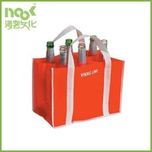 Hot selling Eco-friendly recycle 6 bottles non woven 6 bottle wine tote bag