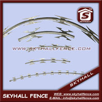 concertina razor wire sharp blade four point sufficiently selected materials