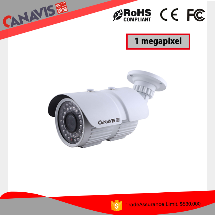 High vision 1.0 megapixel security outdoor infrared cctv camera security