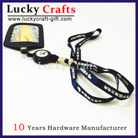 Accept Paypal Thickness Lanyard With Id Holder And Plastic Clips