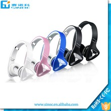 Computer game bluetooth headset 4.0 bluetooth wireless headset stereo headphone with TF fm radio