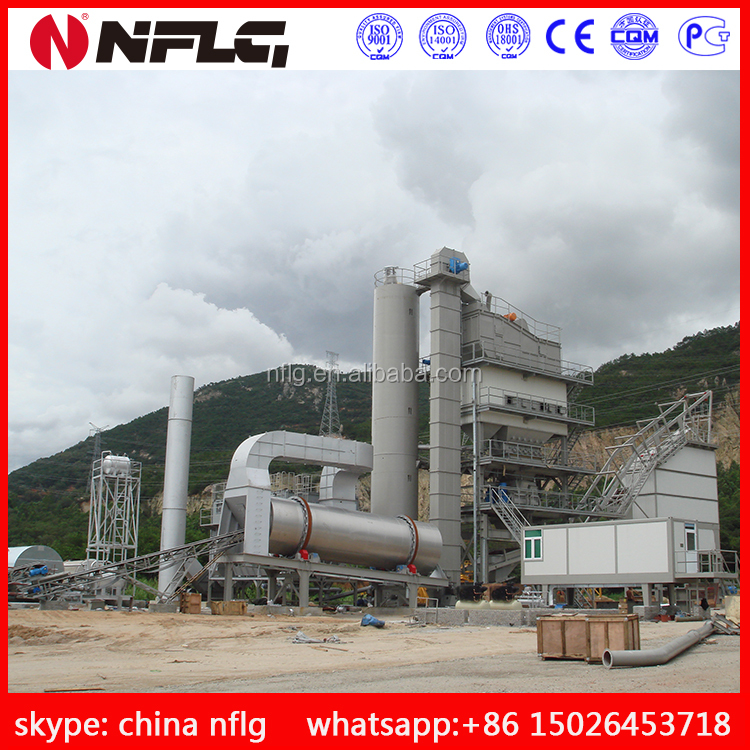 High efficiency asphalt batch mixing plants with good quality