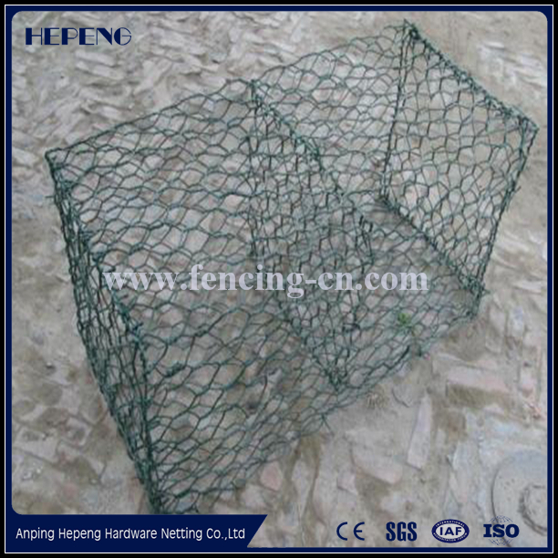 Hot dipped galvanized Gabions Application and Square Hole Shape welded wire mesh