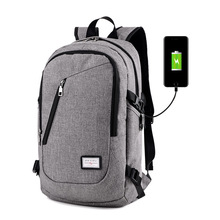 College school bag water resistant laptop usb smart backpack charger