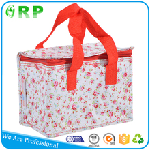 Promotional portable convenient insulated cooler bag for frozen food