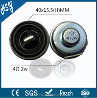 Good sound 40mm 4ohm 2w super bass speaker