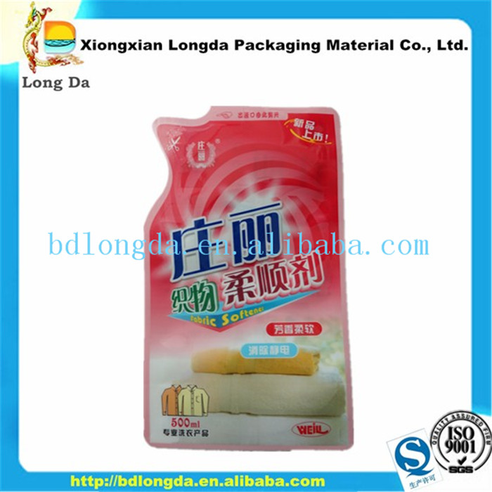 customized composite material stand up drink packing plastic bag