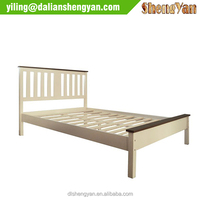 Natural Wood Low End Wooden Flat Pack Bedstead