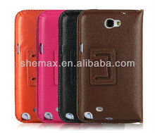 Luxury Vintage PU Leather Wallet Stand case for Samsung Galaxy Note 2 II N7100 Mobile Phone
