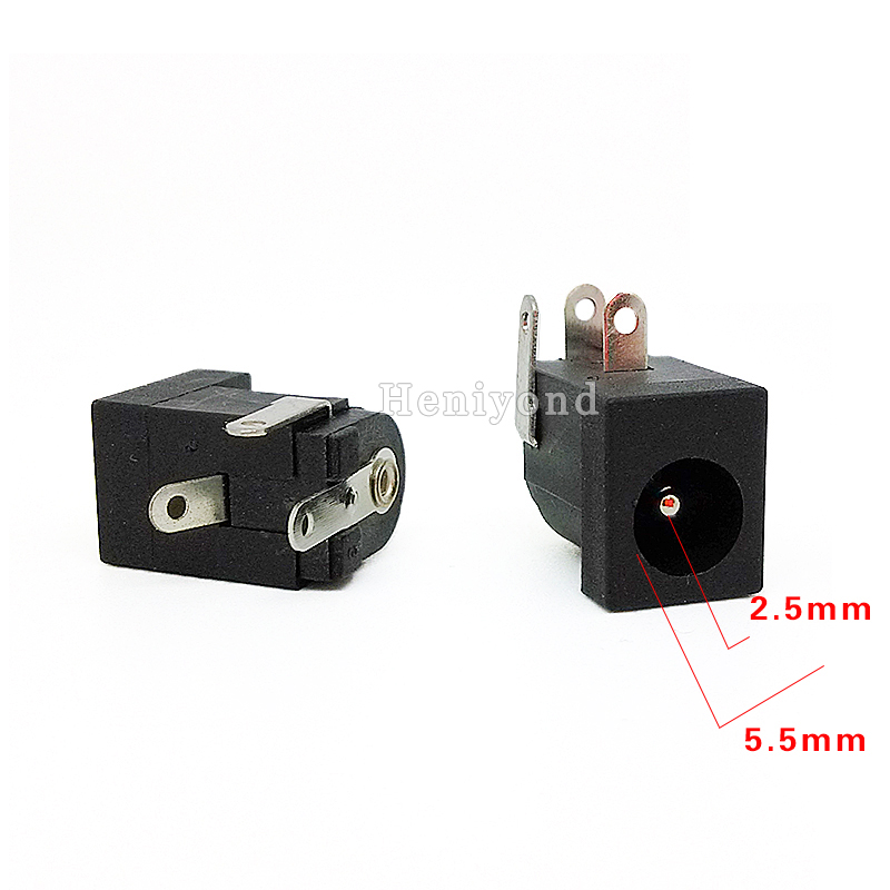 vertical smt dip type connector 5.5 2.5mm dc power jack/dc socket