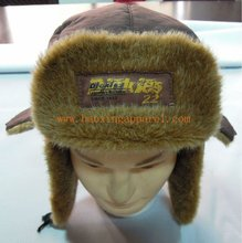 mens/womens Faux Fur lined snowboarding winter snow hats