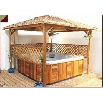 Hot tub wooden gazebos buy wooden gazebos wood gazebo for Wooden gazebo for hot tub