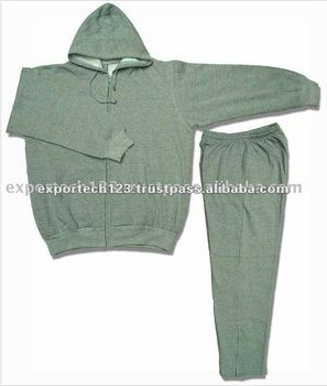 Hazel Grey Cotton fleece Adult Jogging Suit