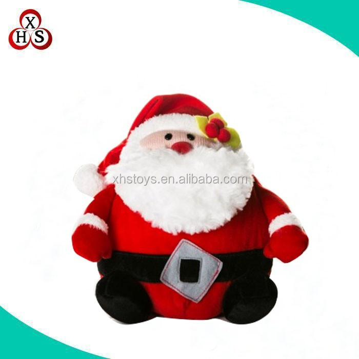 custom cheap plush christams life size santa claus /seated santa claus wholesale in china