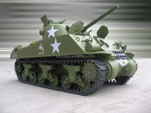 Cars toys Electric powered 1:6 RC Tank M4A3 Sherman Tank 75mm Gun RC Battle Tank without controler hot toys for boy