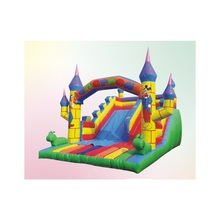 ZED dragon and phoenix theme China inflatable castle for kid play slide