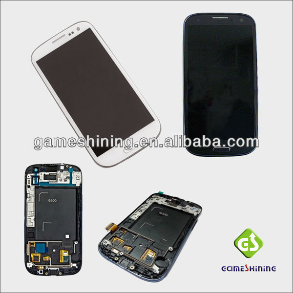 Wholesale For Samsung Galaxy S3 i9300 LCD With Touch Screen Panel Digitizer Repair Parts