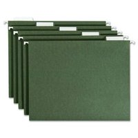 Natural Green Paper Hanging File Folder, 25/box, 5 tab, 100% recycled