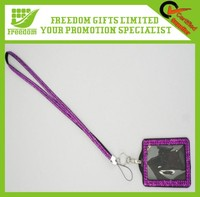 Fashionable Custom Logo Printed Bling Lanyard With Name Tag