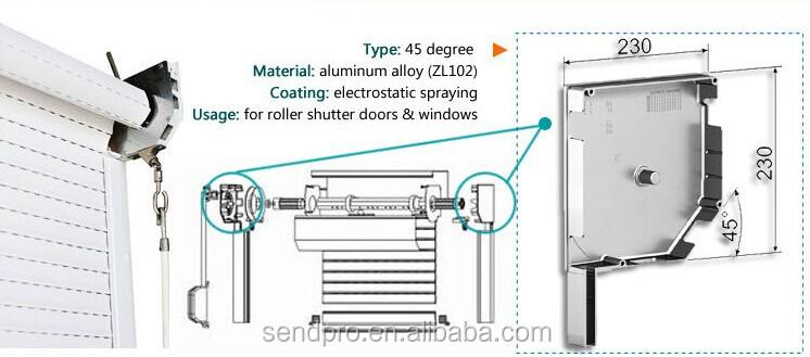 Motorized Outdoor Aluminum Roller Shutter Door Roller
