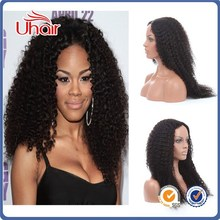 Factory wholesale cheap best quality Lace Front Wigs Unprocessed brazilian virgin human hair half wig