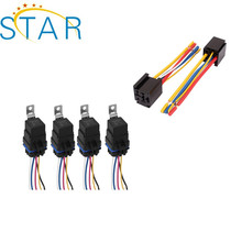 factory 5p 4p 12v 24v automobile relay harness with socket