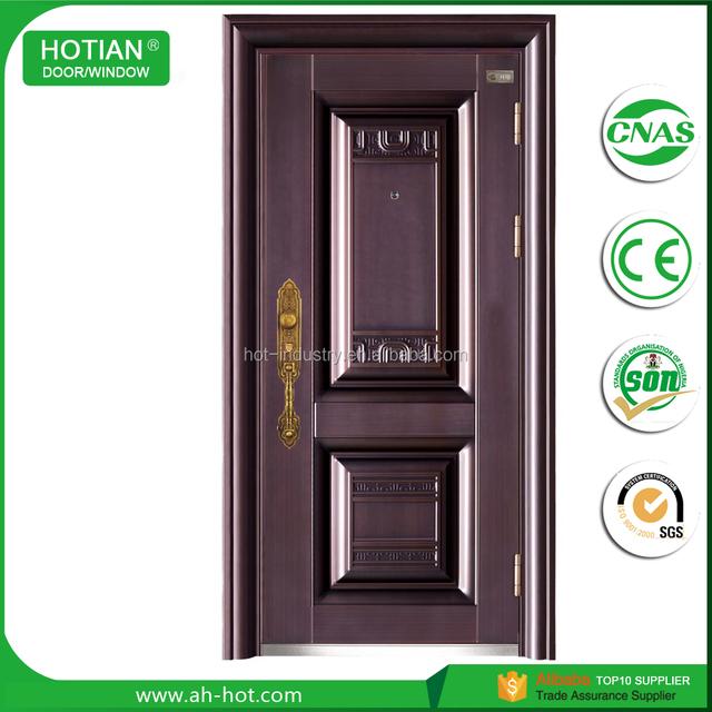 Alibaba china metal door security steel door cheap industrial steel doors main gate designs