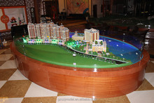Spring garden commercial building model for hotel and shopping mall, architectural maquette
