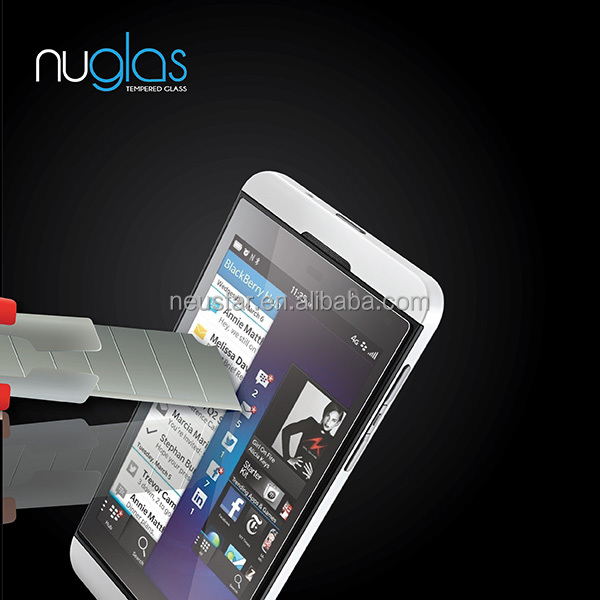 nuglas explosion-proof tempered glass screen protector for <strong>blackberry</strong> <strong>z10</strong> BBZ10 BBQ10