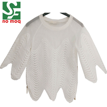 100% Polyester Mesh White Sleeve Women Ladies Fancy Tops Latest Design