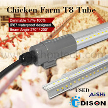 t8 led lamp IP67 waterproof dimmable tube8 light led zoo tube for poultry farm
