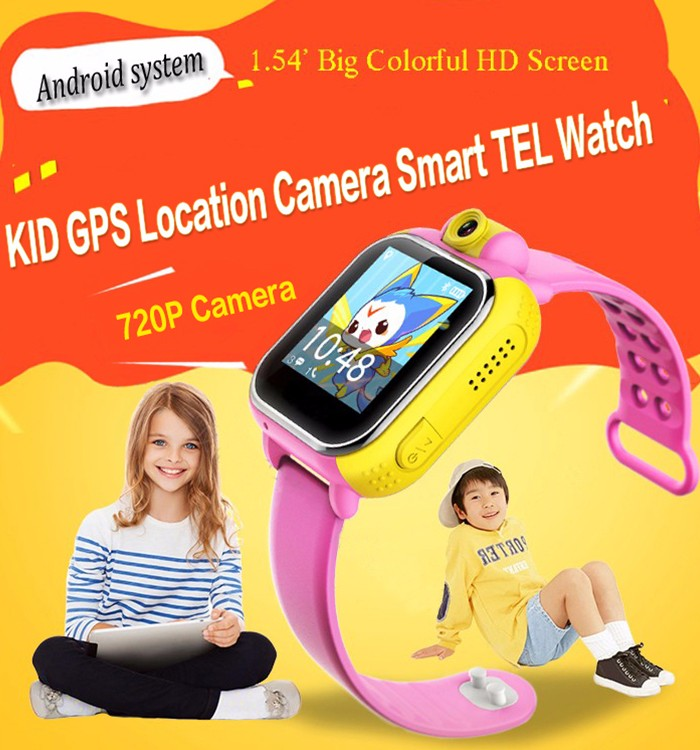 Camera bluetooth sim card waterproof ip67 kids gps running watch with 3g wifi