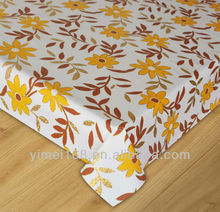 Square PVC table cloth with water woven cotton backing