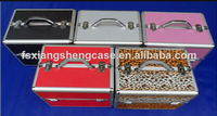 colourful aluminum Cosmetic Case with trays