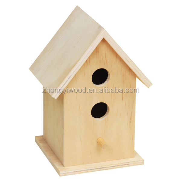 Custom eco-friendly children DIY and painted wooden bird cage bird house